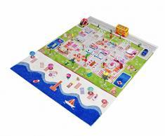 Little Helper 121 md034tr134180 IVI 3D épais tapis de jeu pour enfants, multicolore 134 x 180 cm avec la mer turquoise