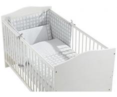 Interbaby 90876–31 Lot de 3 Pièces : Couette, Tour de lit et coussin pour grand lit enfant mod kunter wegs Gris 70 x 140 cm