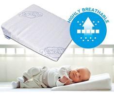 Coussin cale anti reflux et colique pour bébé, pour landau et berceau, de 37 x 30 cm