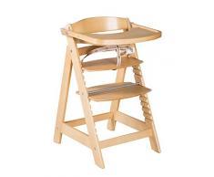 roba Chaise haute évolutive Sit Up Click & Fun, chaise haute avec plateau amovible et arceau, une fermeture à clic innovante, chaise haute qui suit la croissance de votre enfant