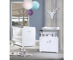 BABY PRICE NT371 Chambre Bébé Duo Lit + Commode