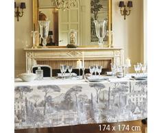 Garnier-Thiebaut PALAZZINA Nappe Antitache, Coton, Fusain, 174 x 174 cm