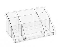 Rotho Boîte de Bureau Haute Timeless, Plastique, Transparent, 45 x 35 x 25 cm