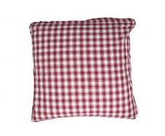 Campagne Table Linen Coussin carré Rouge Taille L