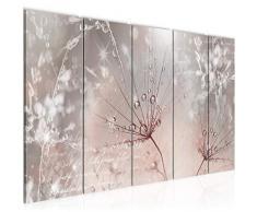 Tableau decoration murale Fleurs de pissenlit 200 x 80 cm - XXL Impression sur Toile Salon Appartment 5 Parties - prêt à accrocher - 205555b