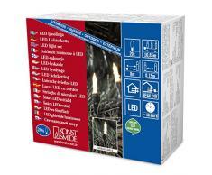 Konstsmide 6002-100 Mini Guirlande dEclairage Extérieur 20 LEDs 24 V Blanc Chaud Câble Vert