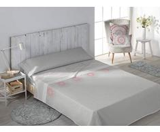 SECANETA Stilia Parure de lit 3 pièces avec Drap-Housse, Drap Plat et taie doreiller Motif Corail 150 x 190/200 cm