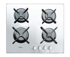 Whirlpool AKT 6400/WH Plaque de cuisson à gaz encastrable Blanc (encastrable, à gaz, en verre, blanche, pivotante, partie supérieure avant)
