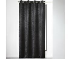 Homea Rideau à œillets carres Polyester Noir 140 x 240 cm