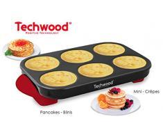Techwood 10125C TCP-65, Crêpière, Crepes Party, | Idéal pour 6 Personnes | 1500 Watts