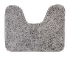 Wenko 22342100 Tapis de Contour WC Polyester Gris 50 x 5 x 5 cm