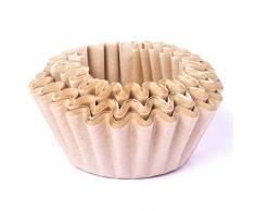 BEEM Lot de 100 sacs filtrants universels pour machine à café avec filtre en liège Blanc 80 x 200 mm