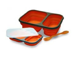 Baumalu 450134 Lunch Box en Silicone à 2 Compartiments - Orange