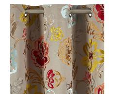MADURA Rideau à Oeillets Magellan Coton Naturel 135 x 300 cm