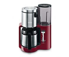 Siemens TC86504 Machine à café avec verseuse en acier inoxydable, capacité 8-12 tasses Rouge 1100W
