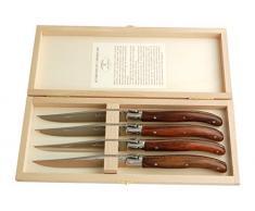 Laguiole Ménagère avec 4 Couteaux à Steak Palissandre