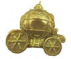 Mondial-fete - Bougie carrosse doré 7 x 5 cm