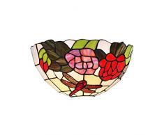interfan Applique tiffany libellule E14, multicolore