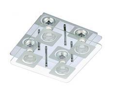 Briloner Leuchten 3514-048 plafonnier, Spots, Lampe Salon, Applique LED, Métal, GU10, 3 W, Chrome