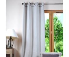 Lovely Casa R61490065 Duo Rideau Coton Perle/Gris 135 x 250 cm