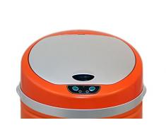 Kitchen Move 118 Couvercle pour Poubelle Automatique de Cuisine avec Capteur Sensoriel ABS Orange 30.5 x 13 x 30.5 cm