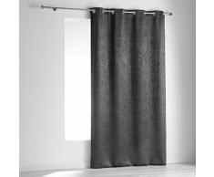 homea rideau a oeillets 140x240 cm occultant velours opacia anthracite