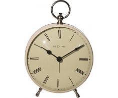 NeXtime 5197cr Charles Horloge Métal Blanc 17,5 x 12,5 x 6,5 cm