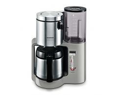 Siemens TC86505 Cafetière avec verseuse isotherme en inox 1100 W max, 8-12 tasses (Gris)