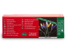 Konstsmide 6302-500 Mini Guirlande 35 LED Multicolores Retro Design + Câble Vert 230 V