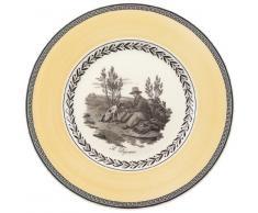 Villeroy & Boch Audun Chasse Assiette à dessert, 22 cm, Porcelaine Premium, Blanc/Gris/Jaune