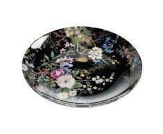 Maxwell & Williams Kilburn Assiette, pour Les Desserts, Midnight Blossom,? 20cm, Porcelaine, wk01520