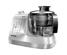 MPM MRK-12 Processeur daliments de cuisine électrique, pétrisseur, fouet, presse-agrumes, centrifugeuse, hachoir 1,5 l Tout-en-un, 800 W