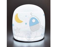 FUN HOUSE 713193 Espace Fusee Lampe Gonflable pour Enfant, Bleu