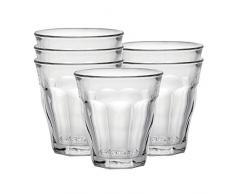 Duralex Picardie verre à eau 130ml, sans repère de remplissage, 6 verres
