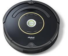 iRobot Roomba 650 Aspirateur Robot, système de nettoyage puissant avec Dirt Detect, aspire tapis, moquettes et sols durs, idéal pour les poils danimaux, nettoyage sur programmation, noir