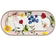 Maxwell Williams HV0029 Petite assiette à gâteau Motif Contessa, Porcelaine, rose, 25 x 11.5 cm