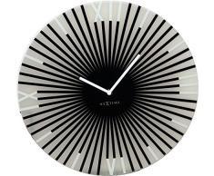 NeXtime 8175zw Sticks Horloge Verre Noir