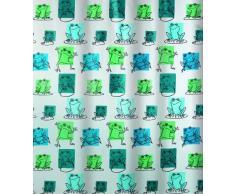 Spirella 10.16751 Rideau de douche en plastique PEVA Motif étang Vert/bleu ciel 180 x 200cm