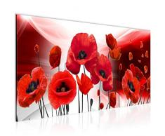 Tableau decoration murale Coquelicots de fleurs - XXL Impression sur Toile Salon Appartment 1 Parties - prêt à accrocher - 208912a