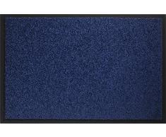 ID Mat Tapis Paillasson, Fibres Nylon sur Semelle PVC caoutchouté, Bleu, 40 x 60 cm