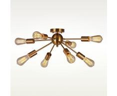 interfan Sputnik lampe de plafond moderne, Cuir, Base dampoule E27, 8L