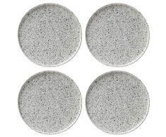 Maxwell Williams Assiettes Caviar Speckle, Porcelaine, crème, 26.5 cm