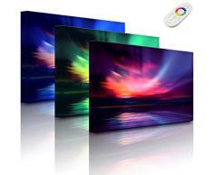 Lightbox-Multicolor Tableau Lumineux à LED avec éclairage polarisant Nordique 100 x 70 cm