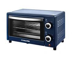 Team Kalorik TKG OT 2025 BU Mini four 9 l avec plaque de cuisson, grille et tiroir à miettes (0-230 °C), 900, 9 l Bleu