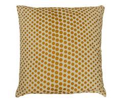 HomeMaison Coussin à Pois Or, Coton, Beige, 40x40 cm
