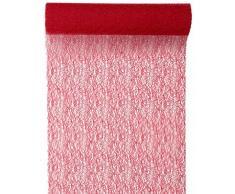 Santex 4063 Grace Chemin de Table Rouge
