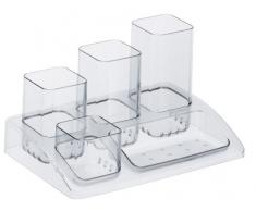 Rotho 1103300096 Boîte de Bureau Soho Plastique, Transparent, 45 x 35 x 25 cm