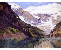 OdsanArt 12 x 9 cm-Post Impressionism autres Lake Louise Linge de lit Par Edward, Henry Potthast haute qualité Fine Art Prints Reproduction de photographie dArt sur toile