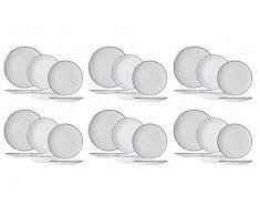 Cosy & Trendy 4006099SRP Service de Table en Porcelaine TAVOLA 18 pièces, pour 6 Personnes