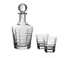 Villeroy & Boch 11-3614-9201 Ardmore Club 3 pièces, Ensemble Whisky avec Carafe, Verre de Cristal, Clair, 750 ML et 320 ML